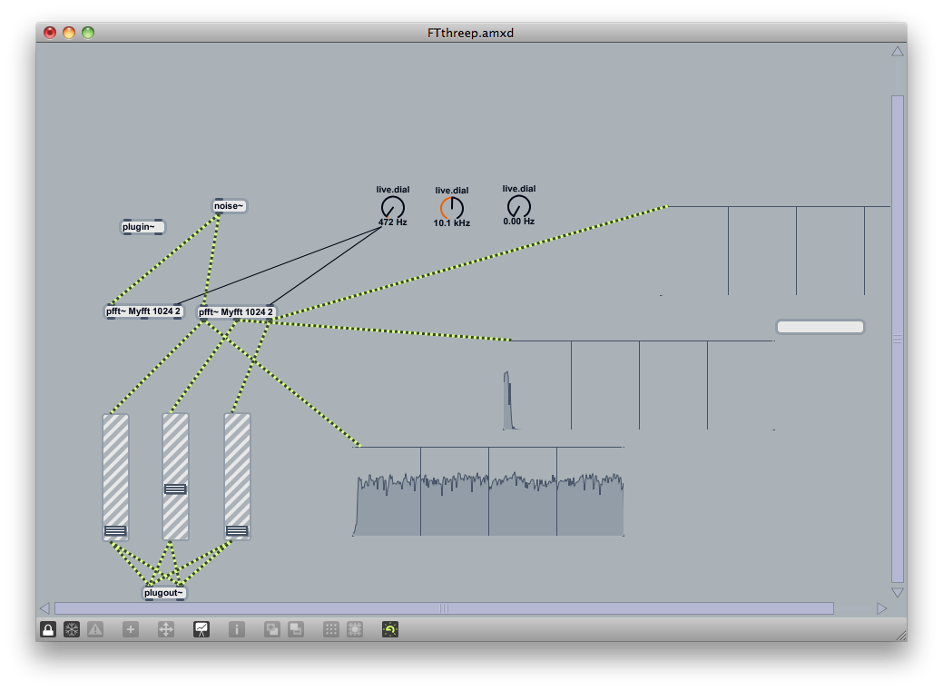 Split frequency band FFT filter - MaxMSP Forum | Cycling '74