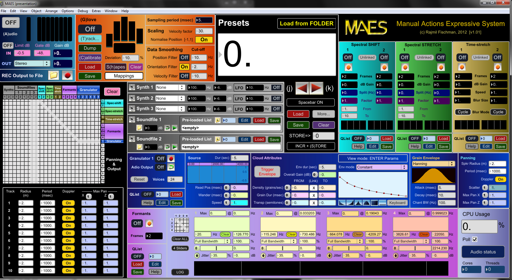 MAES - Main screen