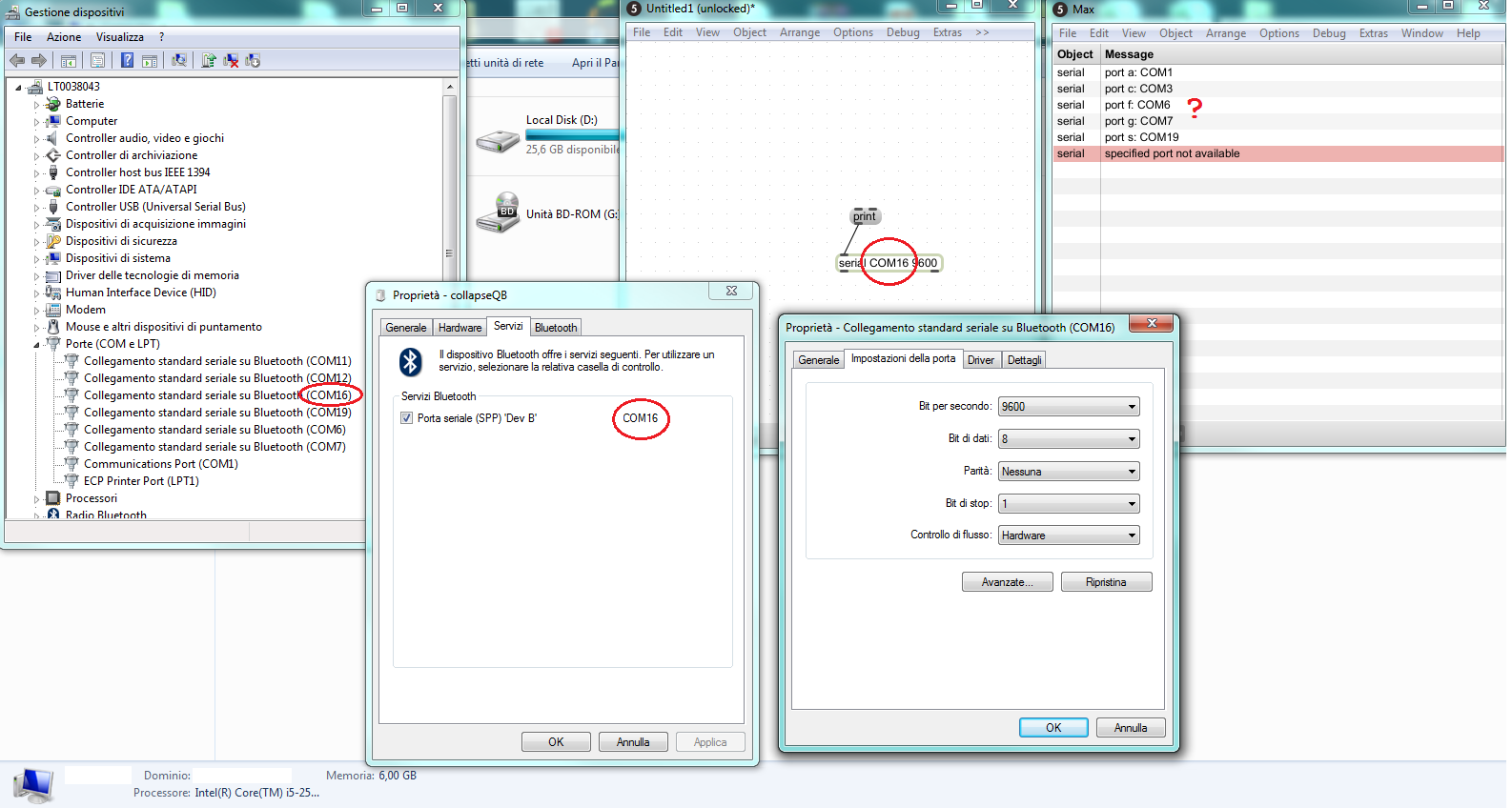 Serial obj doesn't see COM ports in Windows [HC-06 bluetooth+arduino