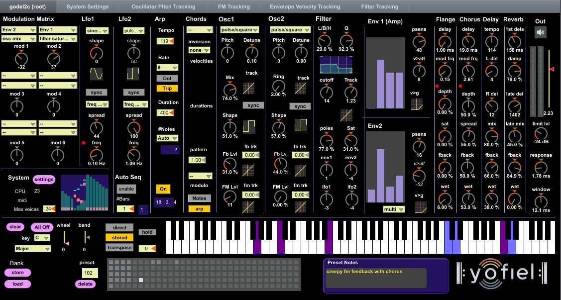 Godel 2 Polyphonic Synthesizer by Ernest
