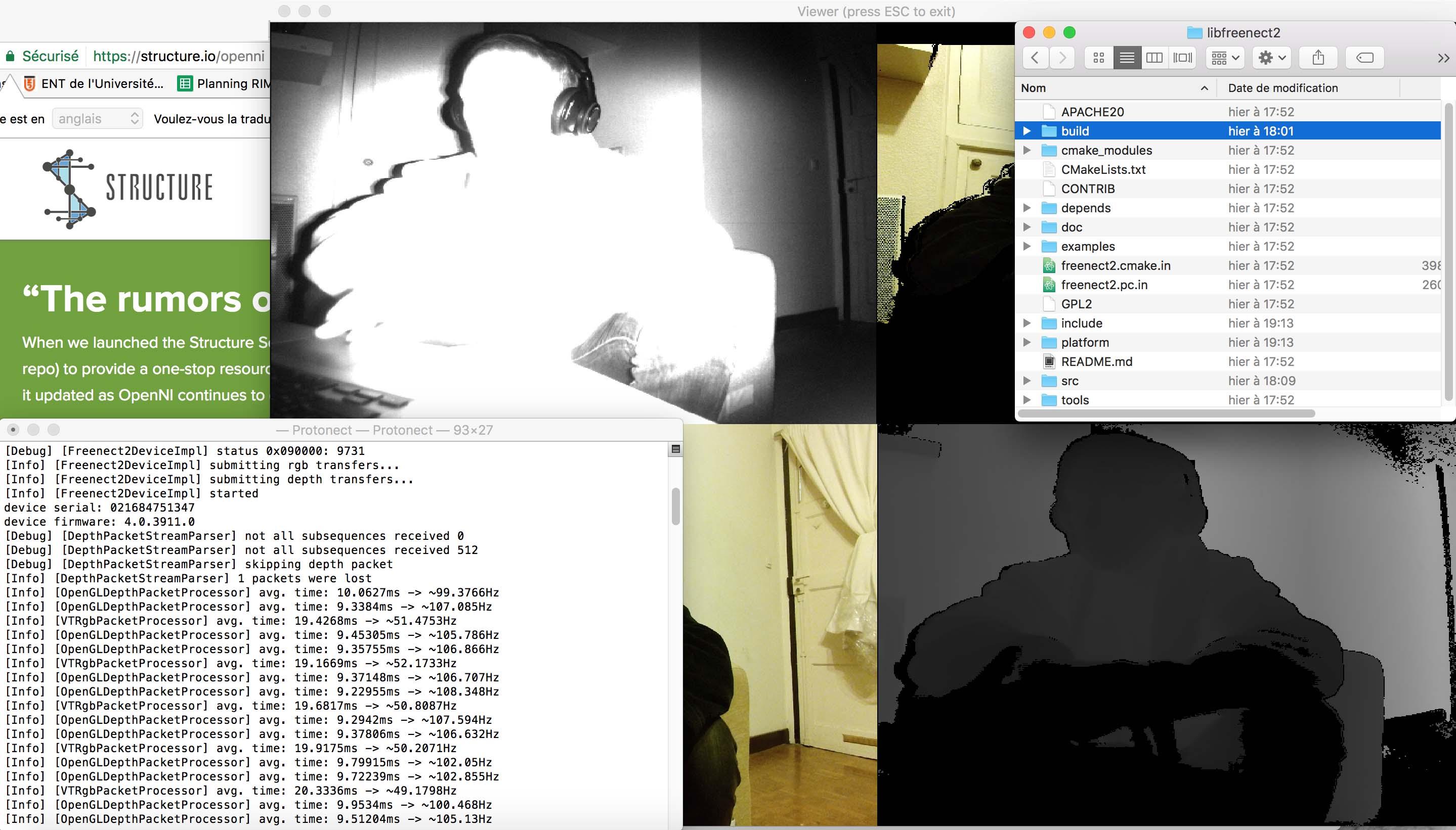 MAC / Kinect v2 + OpenNI 2 SDK + OpenKinect/libfreenect2 - MaxMSP